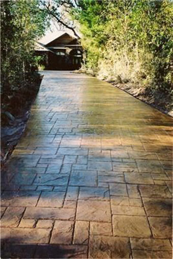 Stamped Concrete Driveways : Top stamped concrete designs