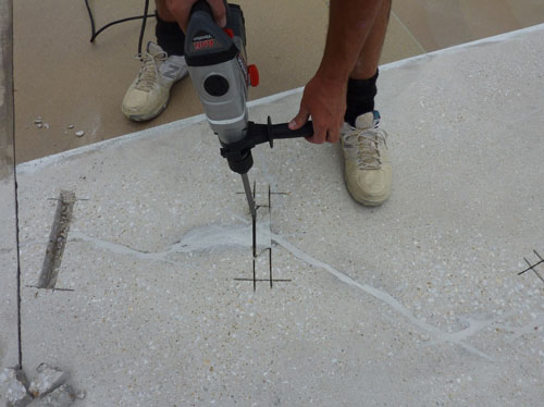 Concrete crack repair that worked!