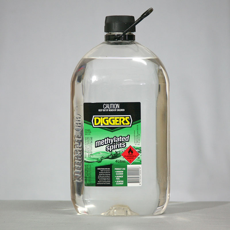 Concrete Stain Remover >> Methylated Spirits - On-Crete