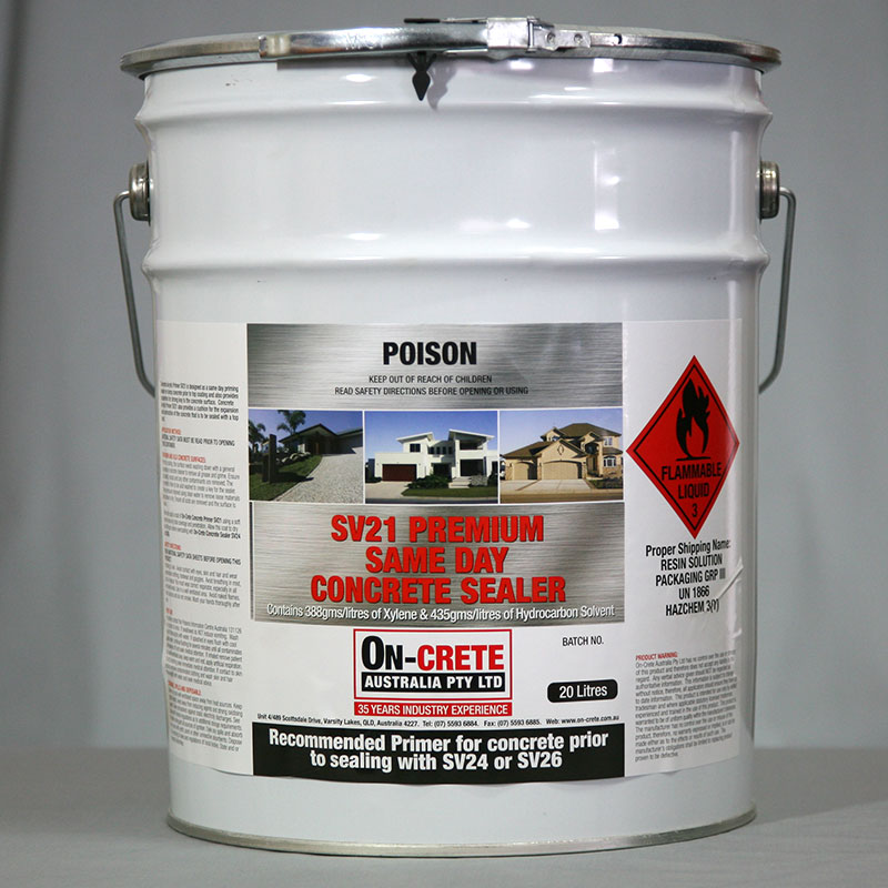 SV21 Premium Sameday Concrete Sealer