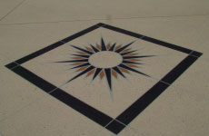 Concrete Stencil Diamon Compass